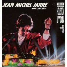 JEAN MICHEL JARRE - IN CONCERT HOUSTON LYON  - LP UK 1987 - EXCELLENT+