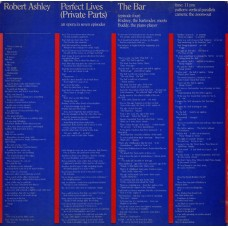 ROBERT ASHLEY - PERFECT LIVES - THE BAR - LP USA 1980 - EXCELLENT+