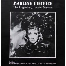 MARLENE DIETRICH - THE LEGENDARY, LOVELY MARLENE - LP UK 1982 - EXCELLENT+