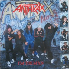 "ANTHRAX - I'M THE MAN - 12"" 1987 - EXCELLENT+"