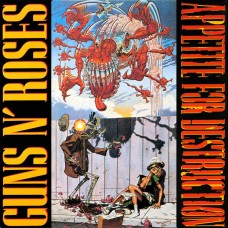 GUNS N' ROSES - APPETITE FOR DESTRUCTION - LP 1987 - ORIGINAL - RARE WITH STICKER - NEAR MINT