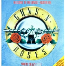 """GUNS N' ROSES - WELCOME TO THE JUNGLE - 12"""" UK 1988 - LTD ED POSTER BAG - EXCELLENT"""