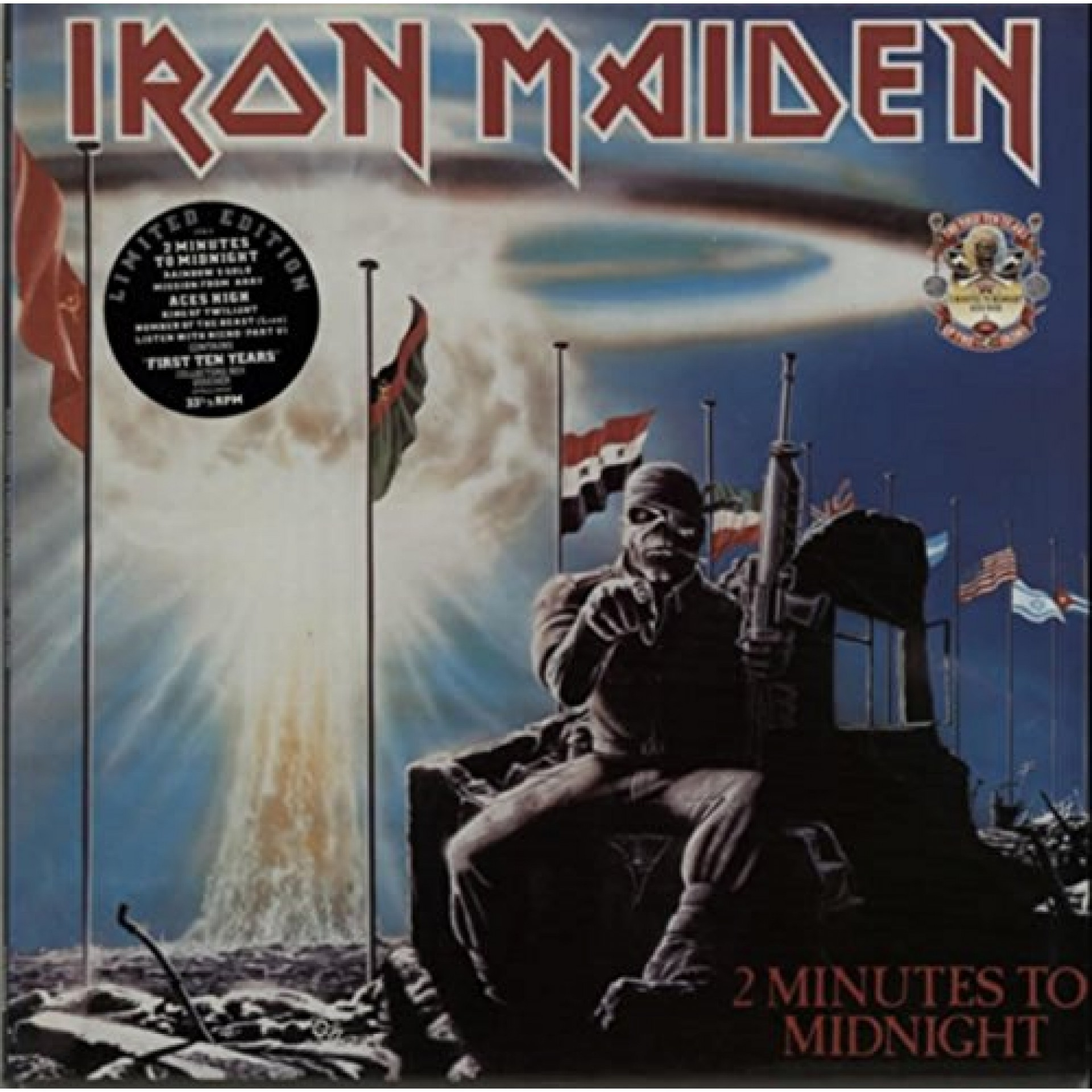 Iron Maiden 2 Minutes To Midnight Acs High First Ten