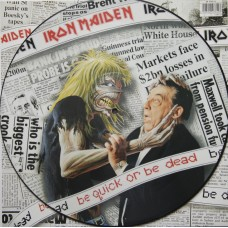 "IRON MAIDEN - BE QUICK OR BE DEAD - 12"" UK 1992 - LIMITED PICTURE DISC - EXCELLENT ++"