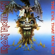 "IRON MAIDEN - THE EVIL THAT MEN DO - 12"" MAXI UK 1988 - LIMITED EDITION POSTER SLEEVE - EXCELLENT"