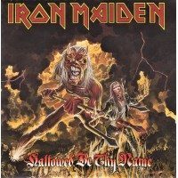"""IRON MAIDEN - HALLOWED BE THY NAME - 7"""" 1993 - RED VINYL - EXCELLENT"""