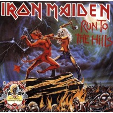 "IRON MAIDEN - RUN TO THE HILLS / THE NUMBER OF THE BEAST - 2 x 12"" UK 1990 - ""FIRST TEN YEARS"" EX+"
