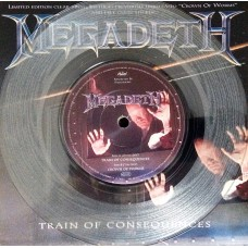 "MEGADETH - TRAIN OF CONSEQUENCES - 7"" UK 1994 - LIMITED EDITION - EXCELLENT"