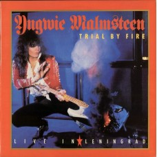 YNGWIE MALMSTEEN - TRIAL BY FIRE - LIVE IN LENINGRAD - LP UK 1989 - NEAR MINT