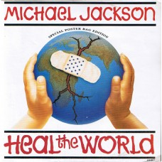 "MICHAEL JACKSON - HEAL THE WORLD - 7"" 1992 - LIMITED POSTER BAG EDITION - EXCELLENT+"