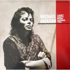 "MICHAEL JACKSON - I JUST CAN'T STOP LOVING YOU - 12"" 1987 UK - EXCELLENT+"
