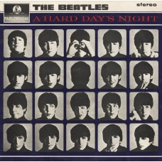 THE BEATLES - A HARD DAY'S NIGHT  - LP UK 1976  - STEREO - EXCELLENT