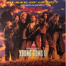 JON BON JOVI - BLAZE OF GLORY - LP UK 1990 - EXCELLENT-
