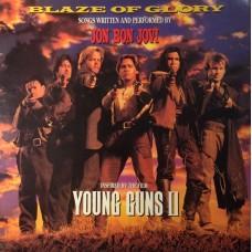 JON BON JOVI - BLAZE OF GLORY - LP UK 1990 - EXCELLENT-