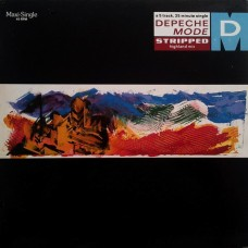 "DEPECHE MODE - STRIPPED - 12"" 1987 - VERY RARE ON BLUE MARBLED VINYL - NEAR MINT"