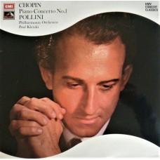 CHOPIN / POLLINI - PIANO CONCERTO No 1 - LP UK 1973 - STEREO - NEAR MINT